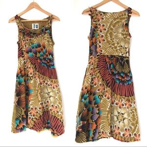 Anthro Edme & Esyllte silk floral dress Sz 4